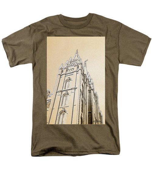 Men's T-Shirt  (Regular Fit) featuring the drawing Glory And Majesty by Greg Collins