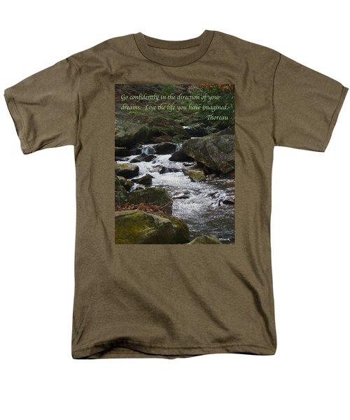 Go Confidently Men's T-Shirt  (Regular Fit) by Deborah Dendler