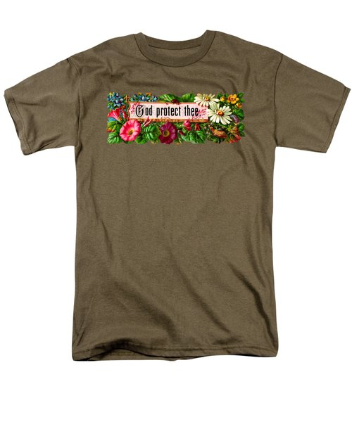 God Protect Thee Vintage Men's T-Shirt  (Regular Fit) by R Muirhead Art