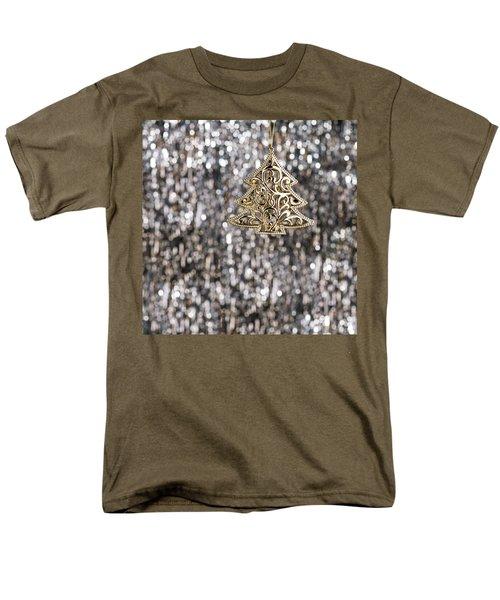 Men's T-Shirt  (Regular Fit) featuring the photograph Gold Christmas Tree by Ulrich Schade