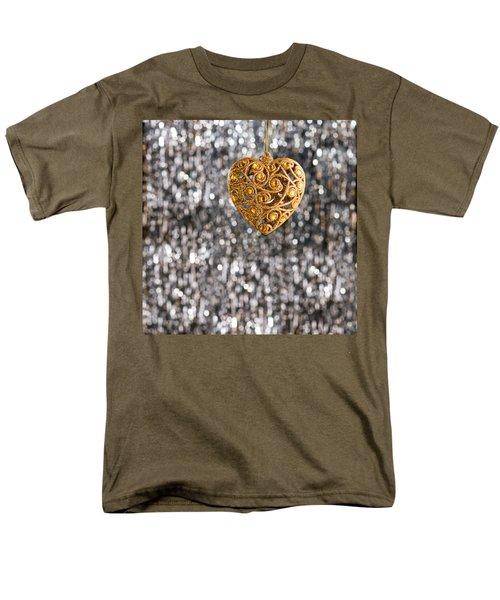 Men's T-Shirt  (Regular Fit) featuring the photograph Gold Heart  by Ulrich Schade