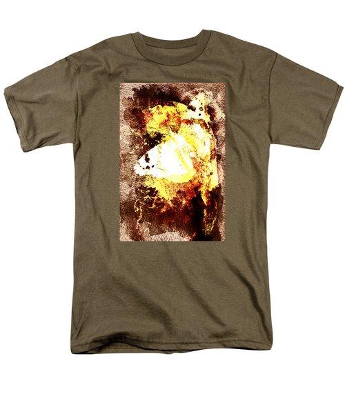 Men's T-Shirt  (Regular Fit) featuring the digital art Golden Butterfly by Andrea Barbieri