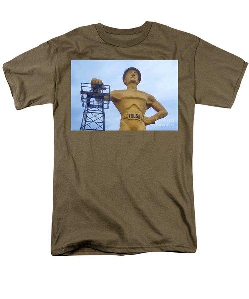 Golden Driller 76 Feet Tall Men's T-Shirt  (Regular Fit) by Janette Boyd