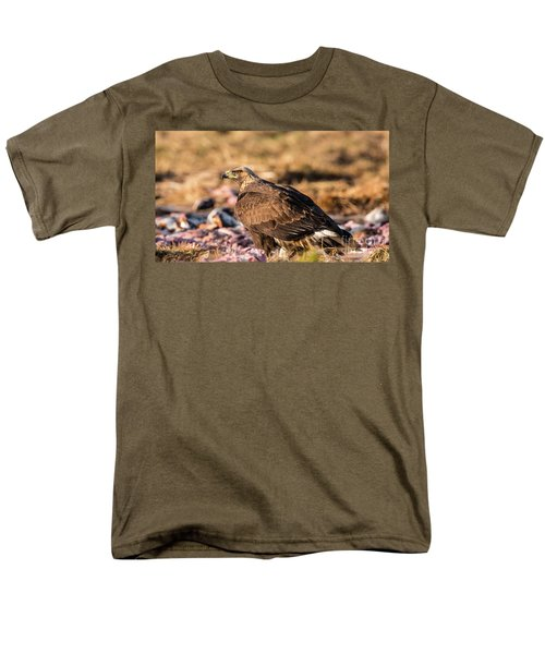 Men's T-Shirt  (Regular Fit) featuring the photograph Golden Eagle's Back by Torbjorn Swenelius
