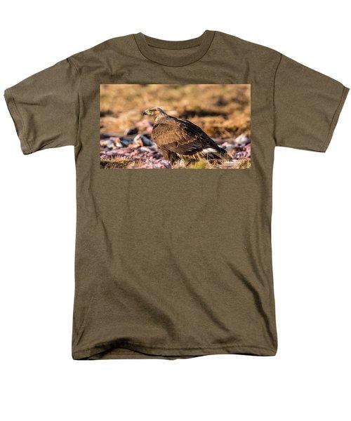 Golden Eagle's Back Men's T-Shirt  (Regular Fit) by Torbjorn Swenelius