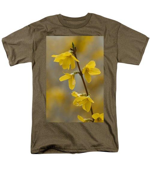 Golden Forsythia Men's T-Shirt  (Regular Fit) by Kathy Clark