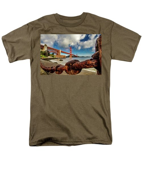 Men's T-Shirt  (Regular Fit) featuring the photograph Golden Gate Bridge And Ft Point by Bill Gallagher