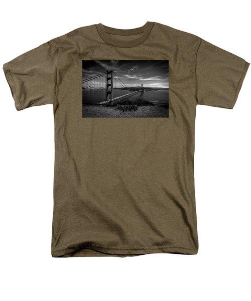 Golden Gate Bridge Locks Of Love Men's T-Shirt  (Regular Fit) by Alpha Wanderlust
