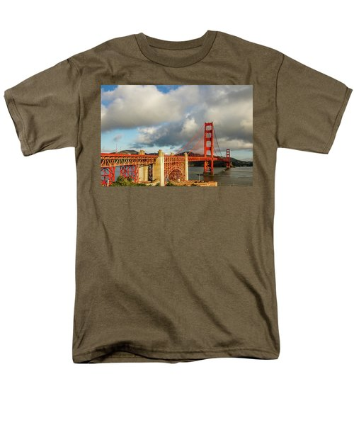 Men's T-Shirt  (Regular Fit) featuring the photograph Golden Gate From Above Ft. Point by Bill Gallagher