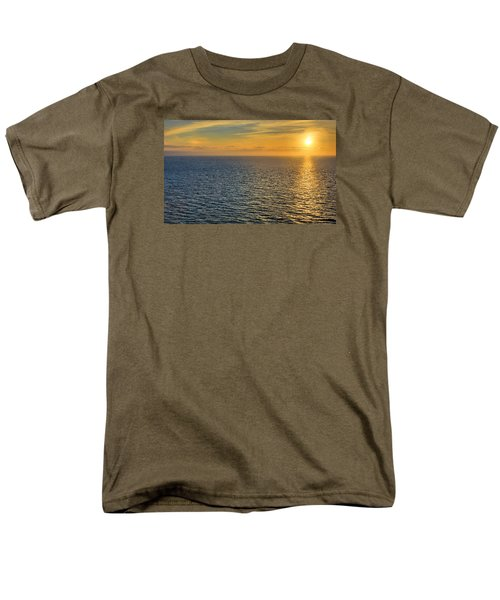 Men's T-Shirt  (Regular Fit) featuring the photograph Golden Hour At Sea by Lewis Mann