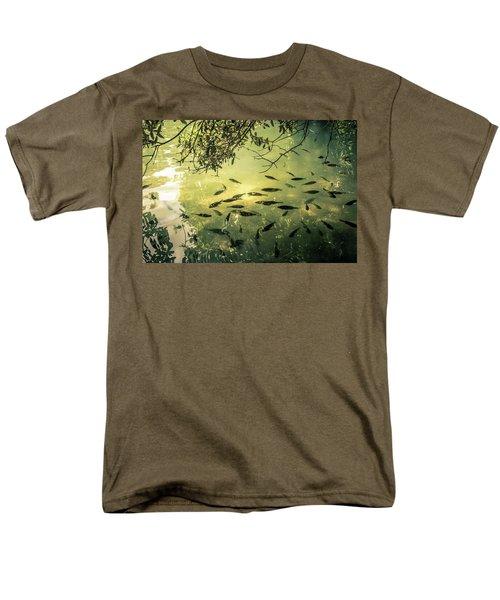 Golden Pond With Fish Men's T-Shirt  (Regular Fit) by Menachem Ganon