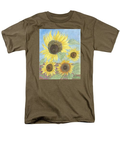 Men's T-Shirt  (Regular Fit) featuring the drawing Golden Quartet by Arlene Crafton