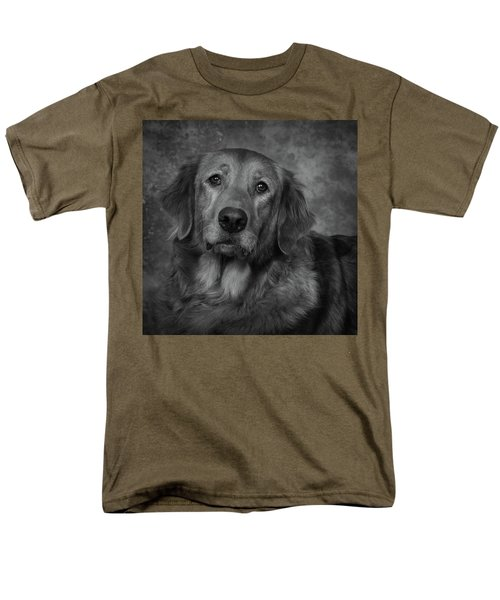 Men's T-Shirt  (Regular Fit) featuring the photograph Golden Retriever In Black And White by Greg Mimbs