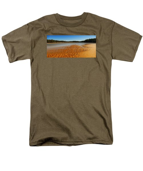 Men's T-Shirt  (Regular Fit) featuring the photograph Golden Sand 01 by Kevin Chippindall