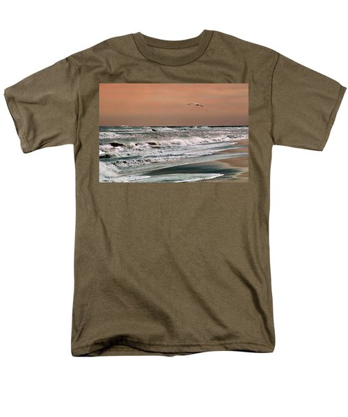 Men's T-Shirt  (Regular Fit) featuring the photograph Golden Shore by Steve Karol