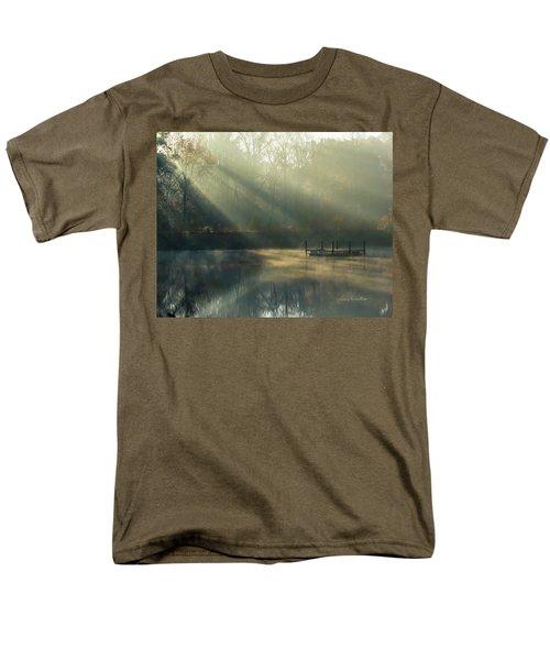 Men's T-Shirt  (Regular Fit) featuring the photograph Golden Sun Rays by George Randy Bass