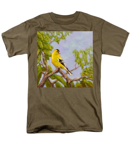 Men's T-Shirt  (Regular Fit) featuring the painting Goldfinch by Joe Bergholm