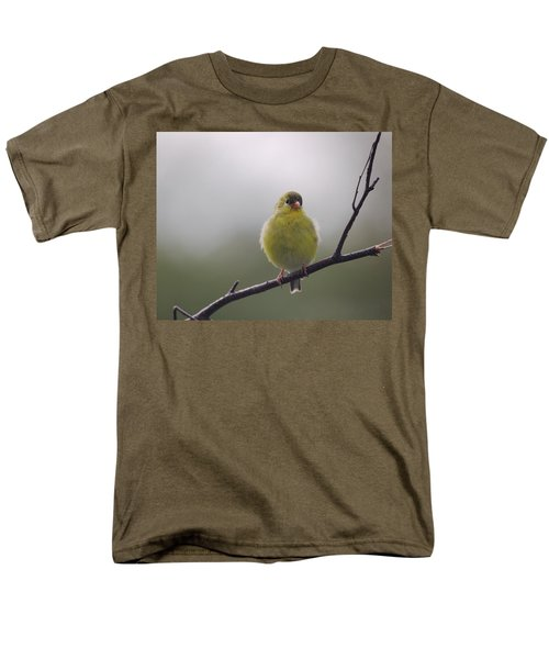 Men's T-Shirt  (Regular Fit) featuring the photograph Goldfinch Puffball by Susan Capuano