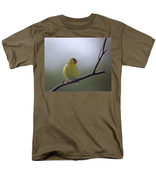 Men's T-Shirt  (Regular Fit) featuring the photograph Goldfinch Song by Susan Capuano