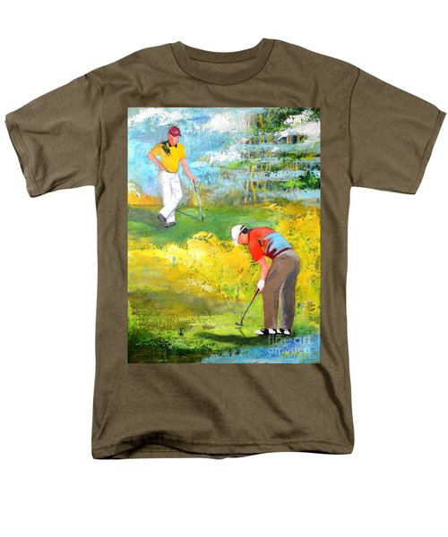 Golf Buddies #2 Men's T-Shirt  (Regular Fit) by Betty M M Wong