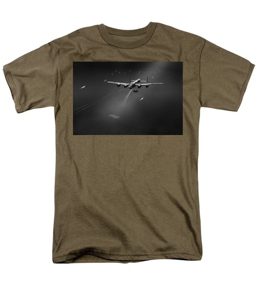 Men's T-Shirt  (Regular Fit) featuring the photograph Goner From Dambuster J-johnny Bw Version by Gary Eason