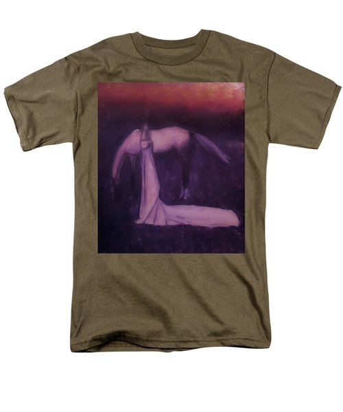 Men's T-Shirt  (Regular Fit) featuring the painting Goodbye Purple Rain by Jarko Aka Lui Grande
