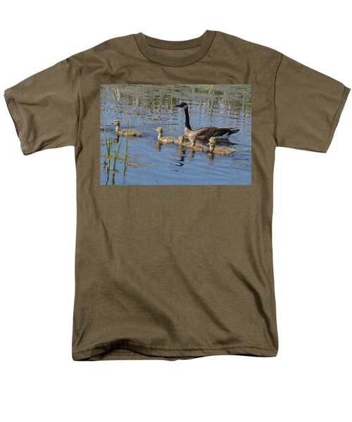 Men's T-Shirt  (Regular Fit) featuring the photograph Goose And Goslings No.1867 by Janice Adomeit