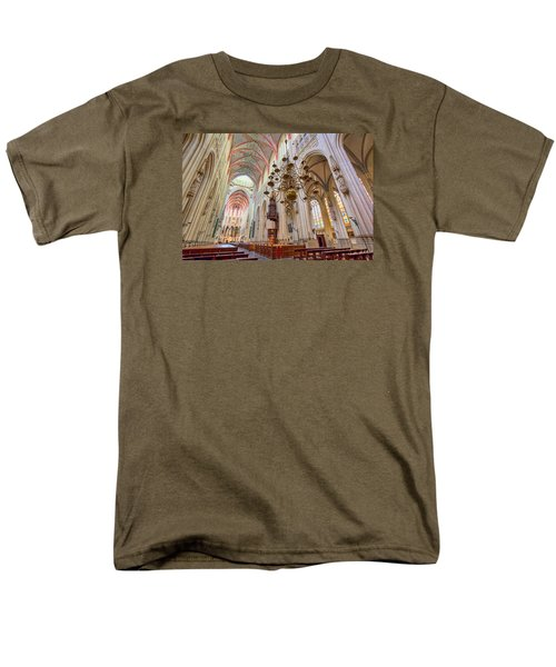 Gothic Cathedral  Men's T-Shirt  (Regular Fit) by Nadia Sanowar