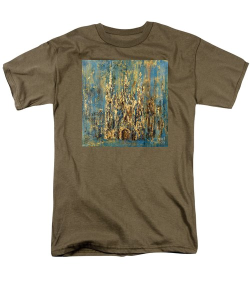Men's T-Shirt  (Regular Fit) featuring the painting Gothic Church  by Arturas Slapsys