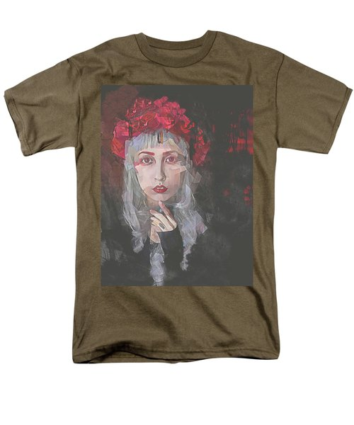Men's T-Shirt  (Regular Fit) featuring the digital art Gothic Petal by Galen Valle