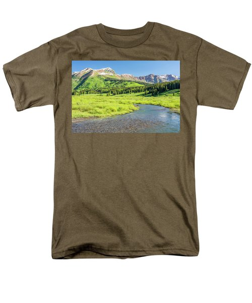 Men's T-Shirt  (Regular Fit) featuring the photograph Gothic Valley - Morning by Eric Glaser