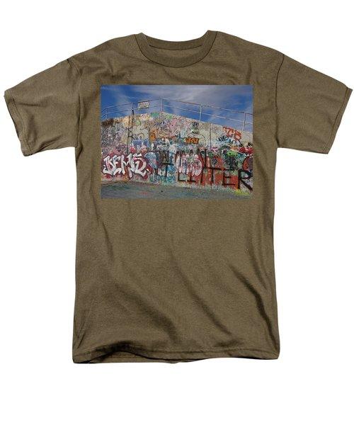 Men's T-Shirt  (Regular Fit) featuring the photograph Graffiti Wall by Julia Wilcox