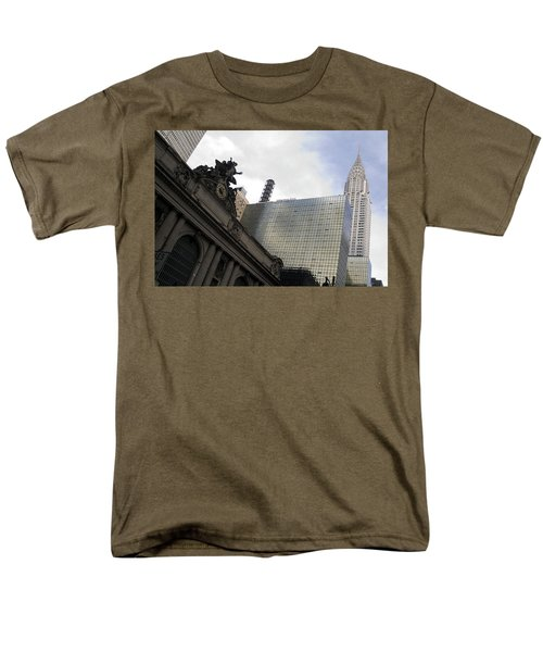 Grand Central And The Chrysler Building Men's T-Shirt  (Regular Fit) by Michael Dorn