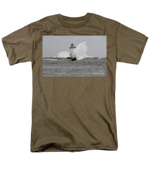 Grand Marais Lighthouse Men's T-Shirt  (Regular Fit) by Sandra Updyke
