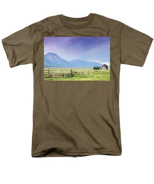 Grand Teton Homestead Men's T-Shirt  (Regular Fit) by Dawn Romine