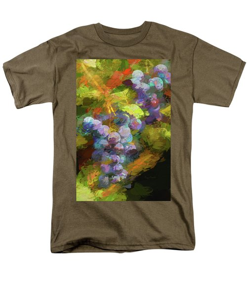 Grapes In Abstract Men's T-Shirt  (Regular Fit) by Penny Lisowski