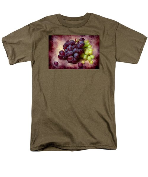 Men's T-Shirt  (Regular Fit) featuring the photograph Grapes Red And Green by Alexander Senin