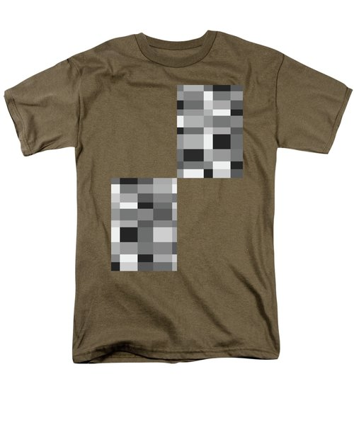 Men's T-Shirt  (Regular Fit) featuring the digital art Grayscale Check by Bruce Stanfield