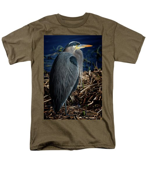 Men's T-Shirt  (Regular Fit) featuring the photograph Great Blue Heron 2 by Randy Hall