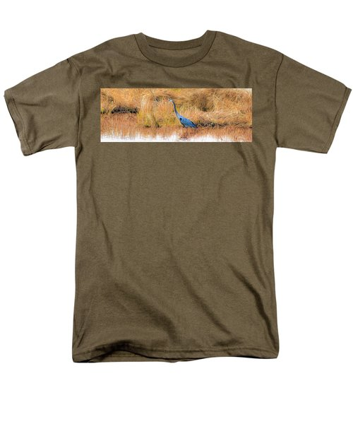 Great Blue Heron Men's T-Shirt  (Regular Fit) by Marion Johnson