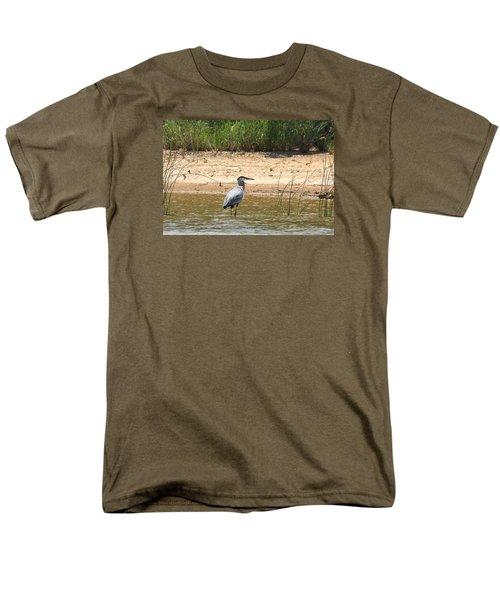 Great Blue Heron Wading Men's T-Shirt  (Regular Fit) by Sheila Brown
