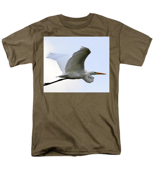 Great Egret Port Jefferson New York Men's T-Shirt  (Regular Fit) by Bob Savage
