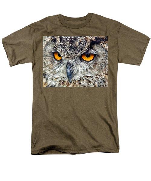 Great Horned Owl Closeup Men's T-Shirt  (Regular Fit) by Jim Fitzpatrick