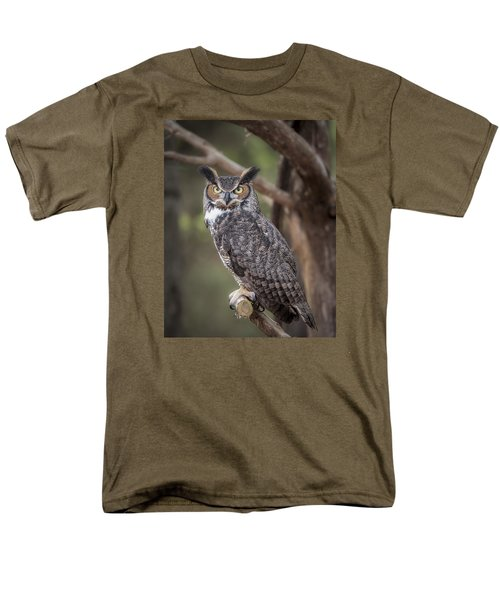 Men's T-Shirt  (Regular Fit) featuring the photograph Great Horned Owl by Tyson and Kathy Smith