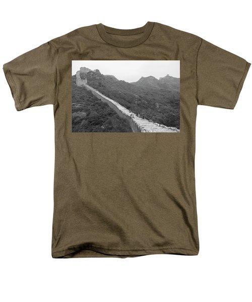Men's T-Shirt  (Regular Fit) featuring the photograph Great Wall 4, Jinshanling, 2016 by Hitendra SINKAR