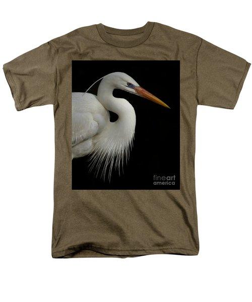 Great White Heron Portrait Men's T-Shirt  (Regular Fit) by Myrna Bradshaw