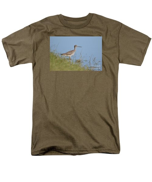 Greater Yellowlegs Men's T-Shirt  (Regular Fit) by Kathy Gibbons