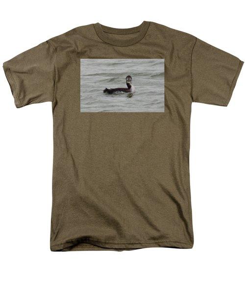 Grebe Looking At Me Men's T-Shirt  (Regular Fit) by Karen Molenaar Terrell