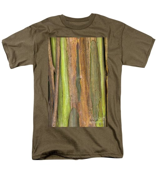 Men's T-Shirt  (Regular Fit) featuring the photograph Green Bark 3 by Werner Padarin