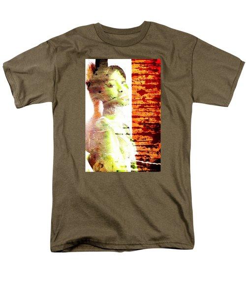 Men's T-Shirt  (Regular Fit) featuring the digital art Green Bauty by Andrea Barbieri